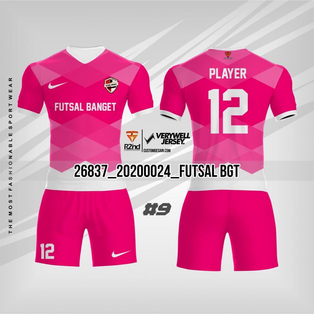 desain jersey futsal pink