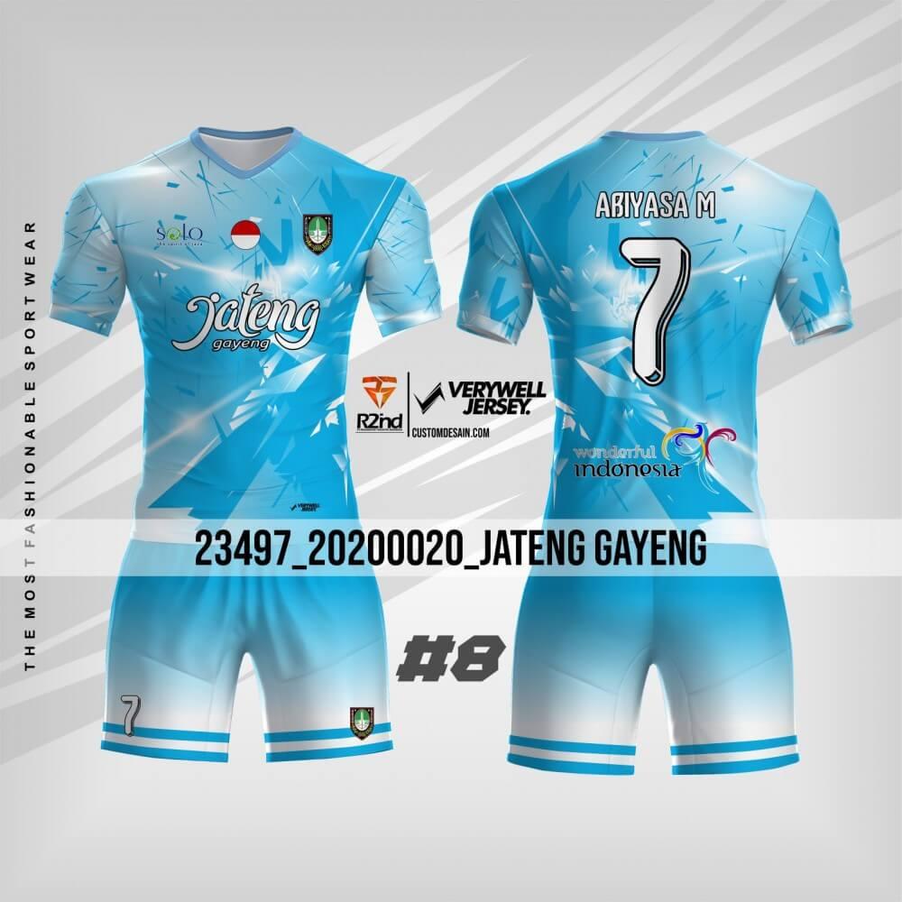 desain jersey futsal biru