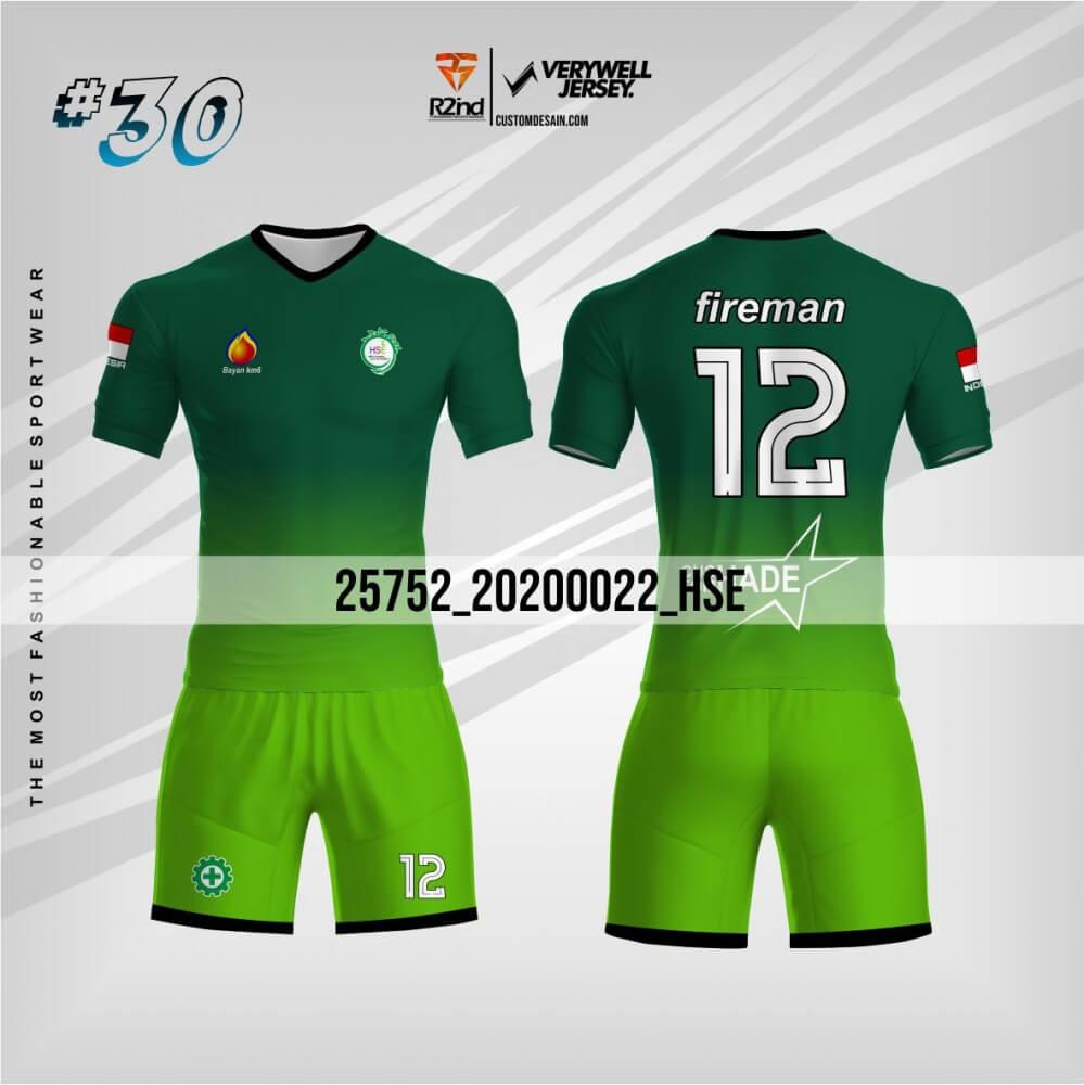 desain jersey futsal hijau