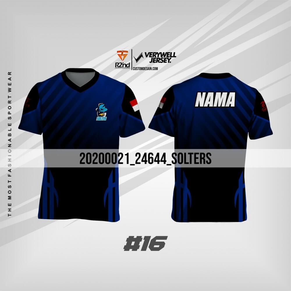 desain kaos futsal hitam biru