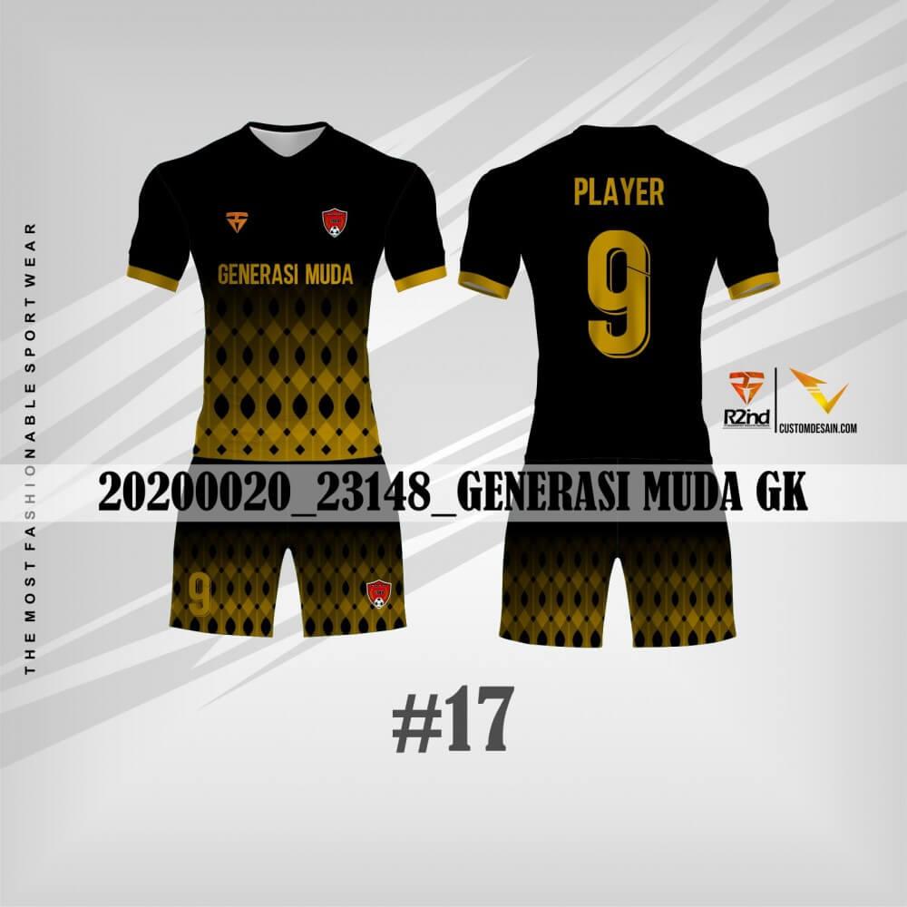 desain jersey futsal hitam emas