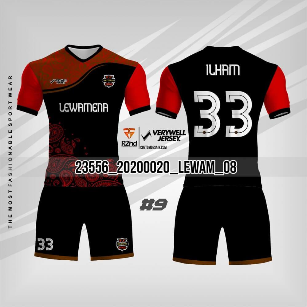 desain jersesy futsal hitam