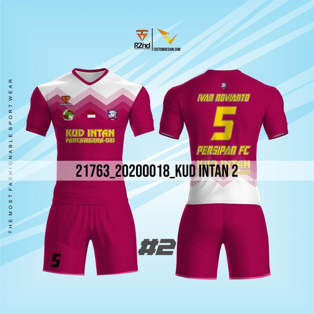 desain jersey futsal pink elegan