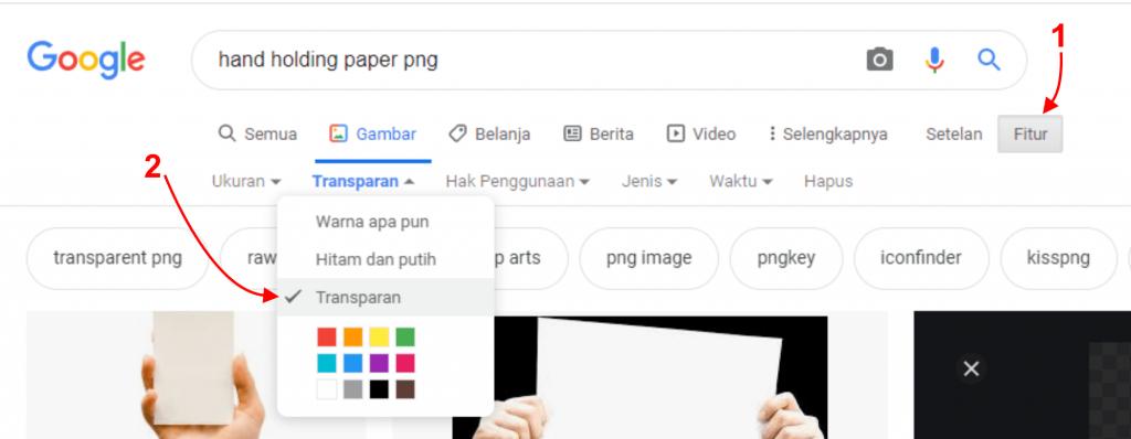 cara cari gambar di google
