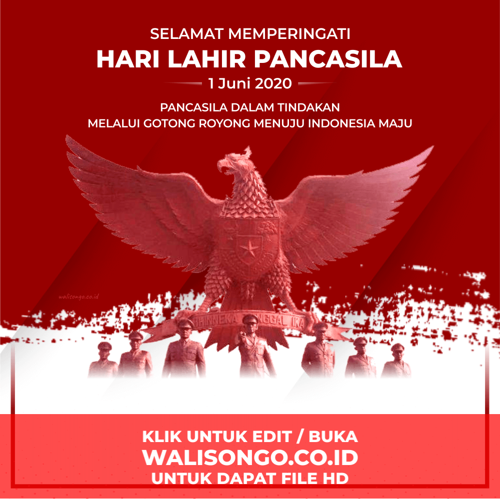 background hari lahir pancasila 2020