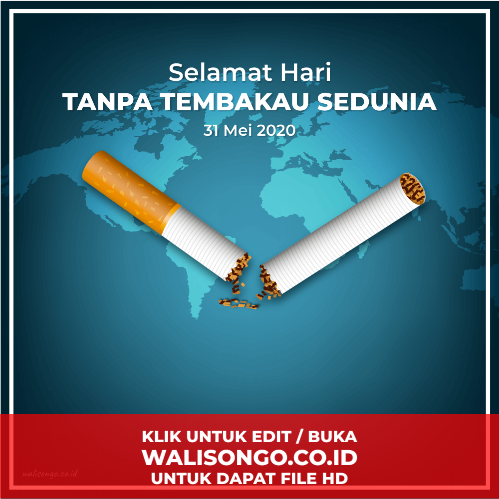 desain background hari tanpa tembakau