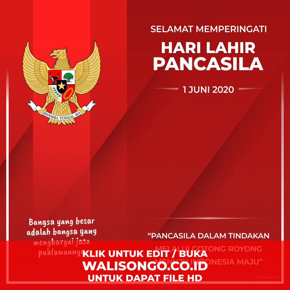 desain poster hari lahir pancasila