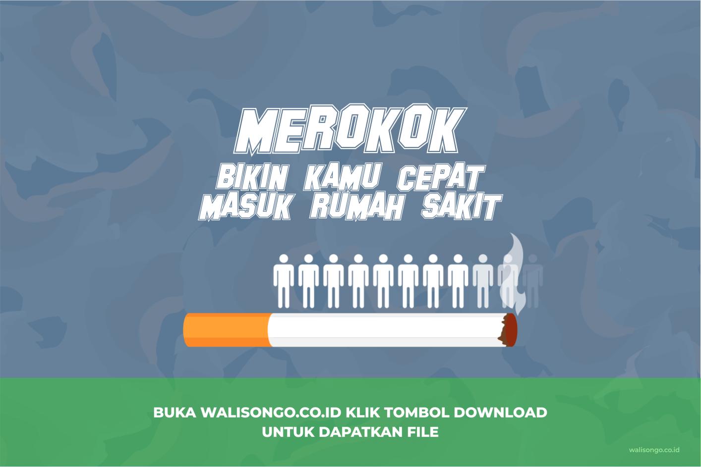 poster kesehatan merokok