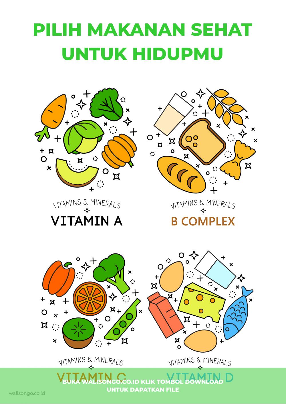 poster makanan sehat
