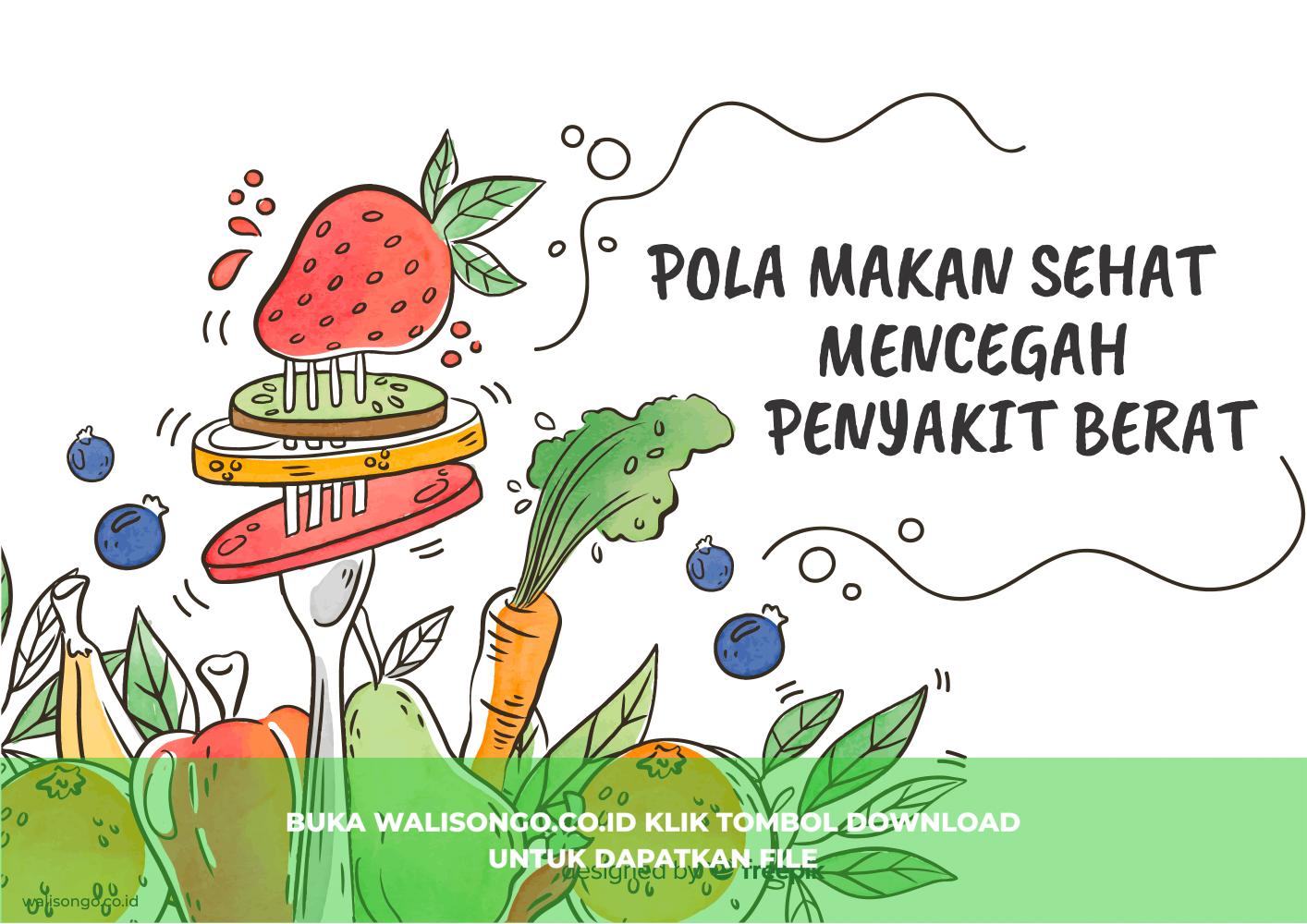 poster pola makan sehat