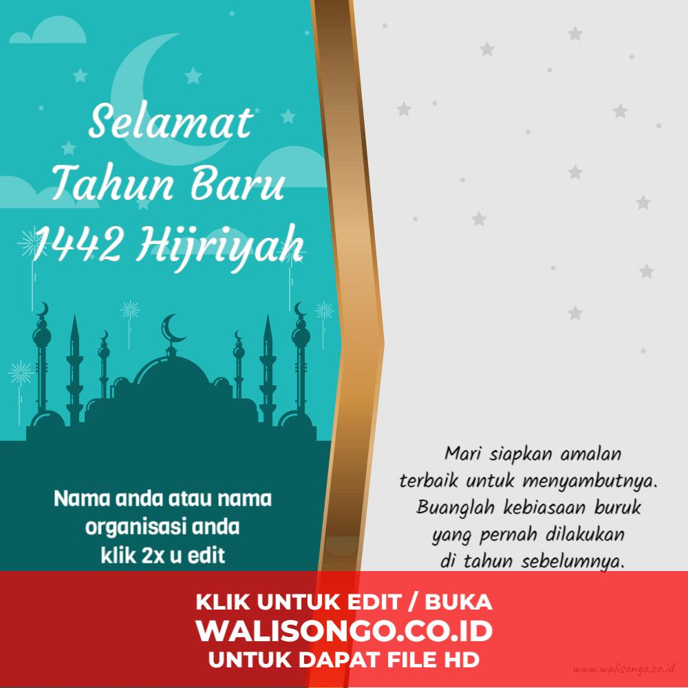 desain kartu ucapan tahun baru hijriah