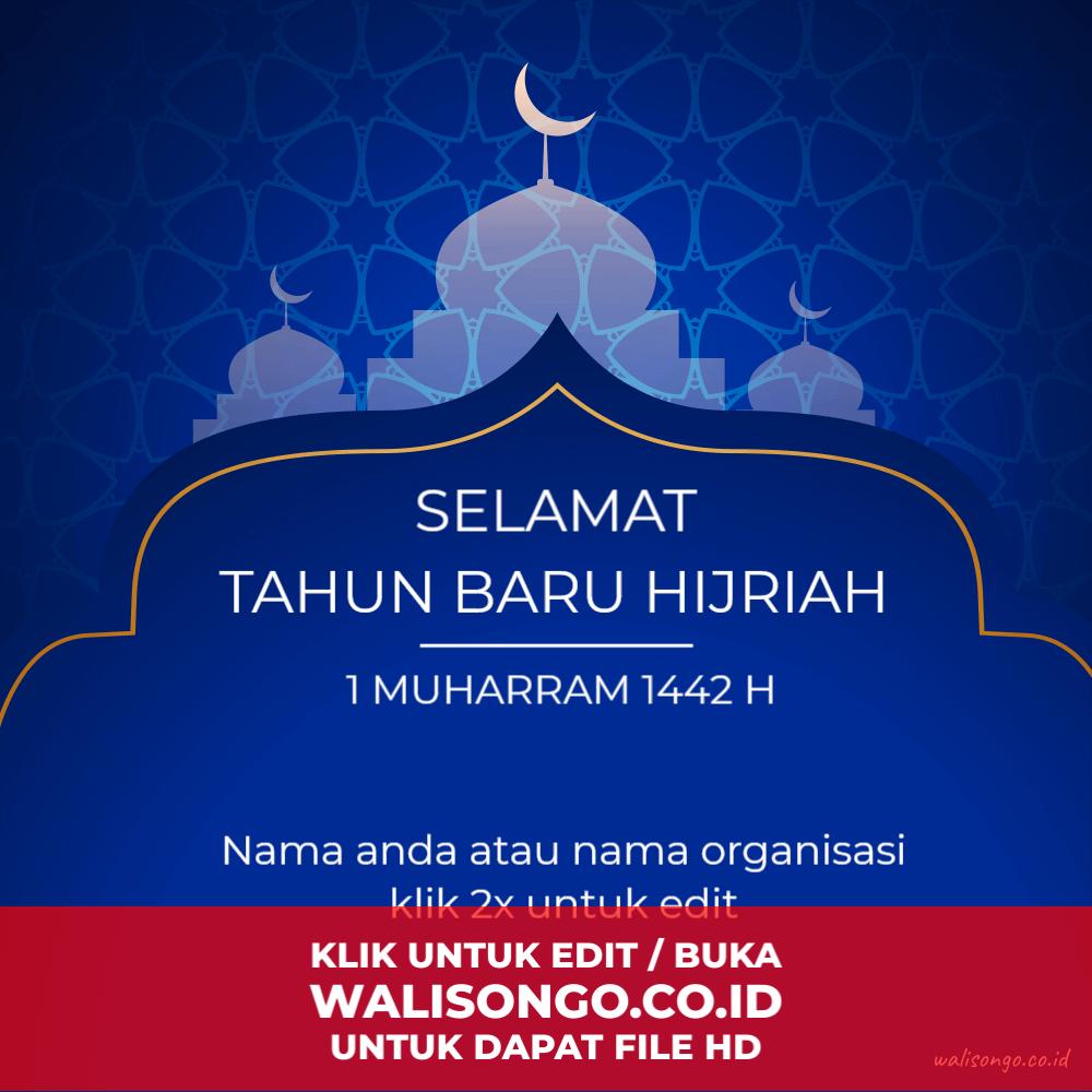 desain poster ucapan tahun baru 1441 Hijriah