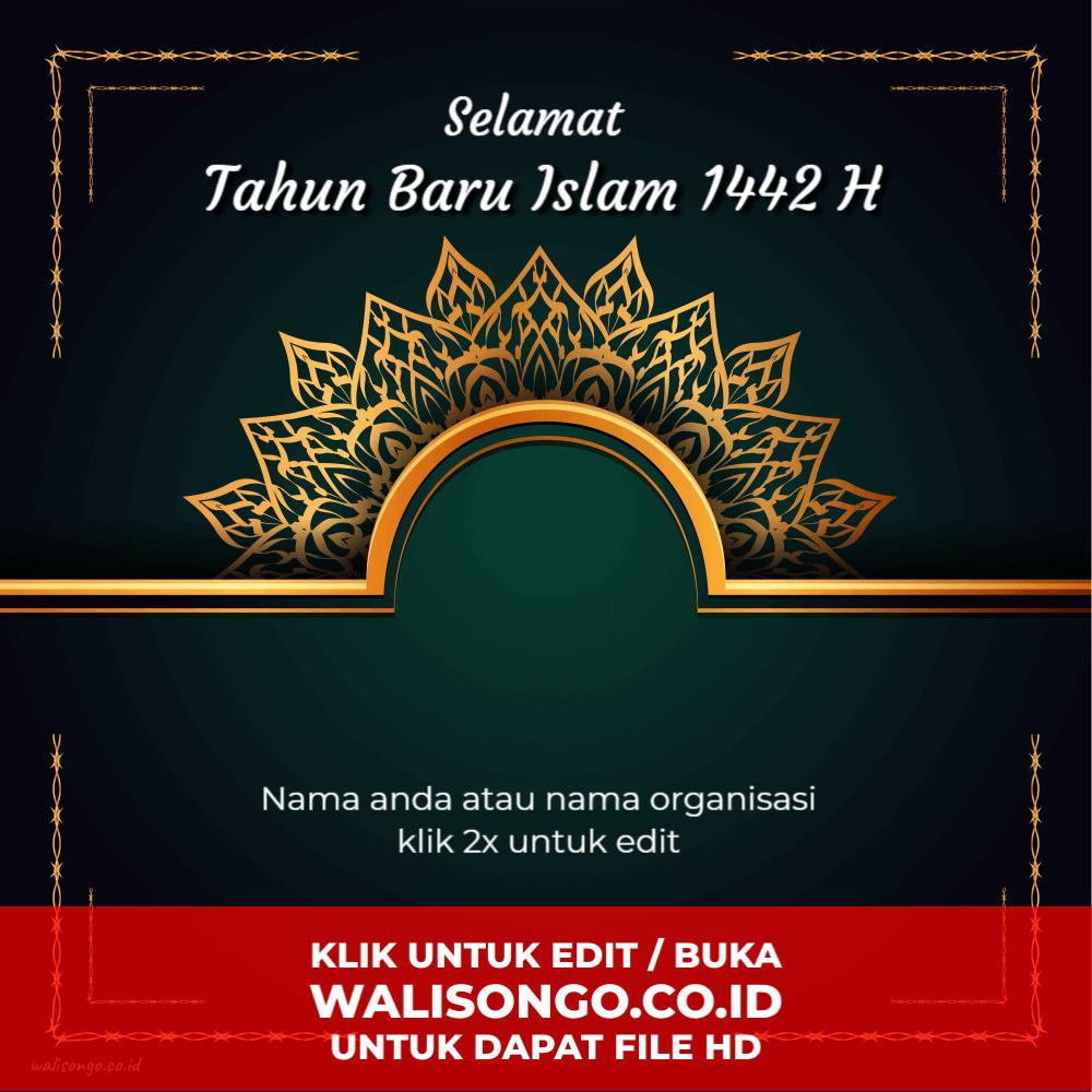 desain tahun baru islam elegan