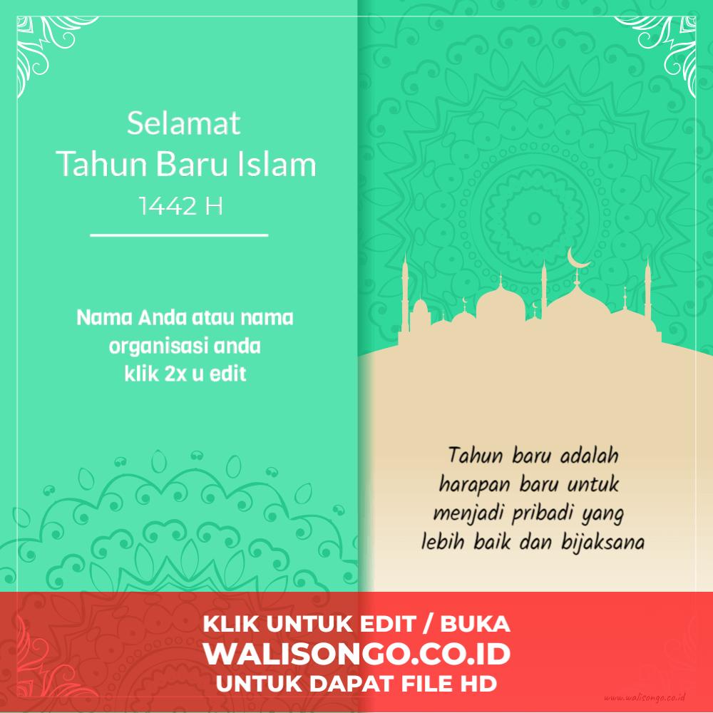 desain kartu ucapan tahun baru islam