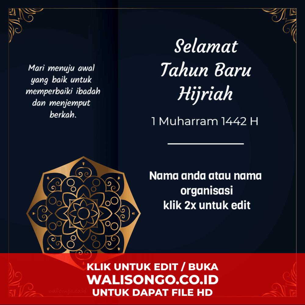 contoh desain poster ucapan tahun baru 1441 Hijriah